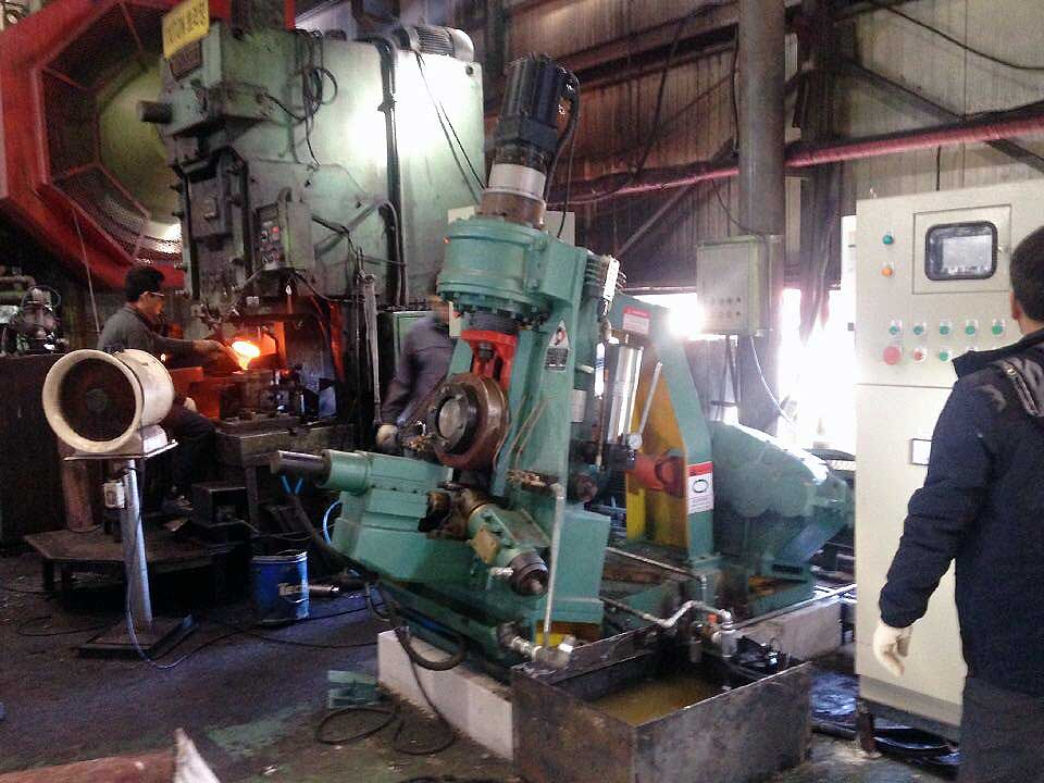 CNC ring rolling machine in Korea