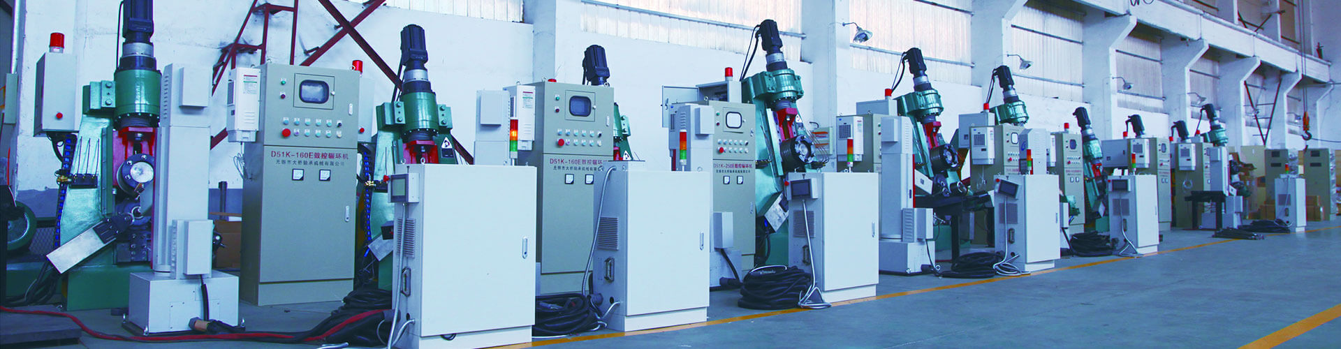 NC Ring rolling machine withrobots